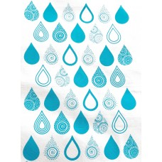 Tea Towel decorated with drop design