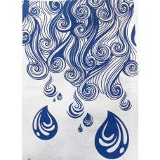 Tea Towel decorated with swirls