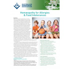 WellBeing Insert - Homoeopathy for Allergies & Food Intolerances